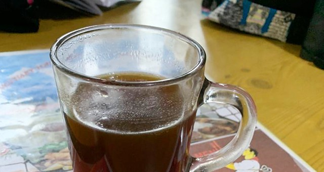 a nice cup of mustang coffee in Nepal