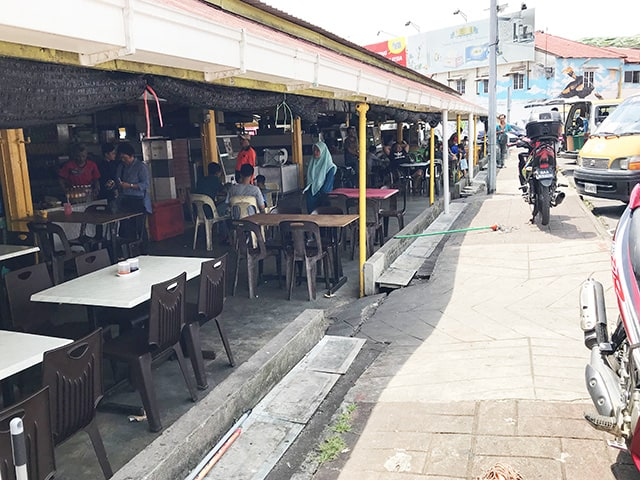 Lunch at Jalan Open Air Market in Kuching