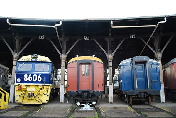 locomotives and carriages at the Junee Roundhouse Museum