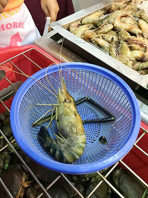 King prawn at top spot food court kuching