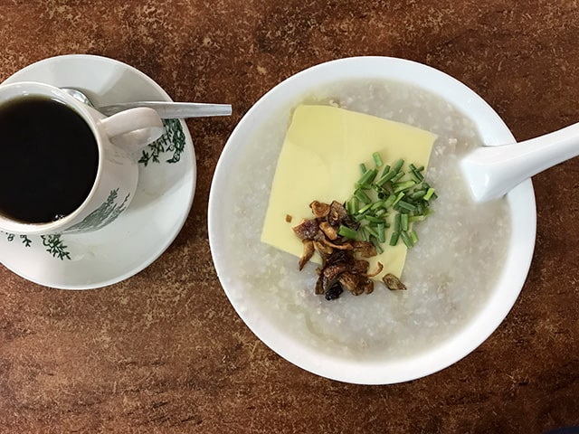 delicious Pork porridge at Hon Hin Cafe
