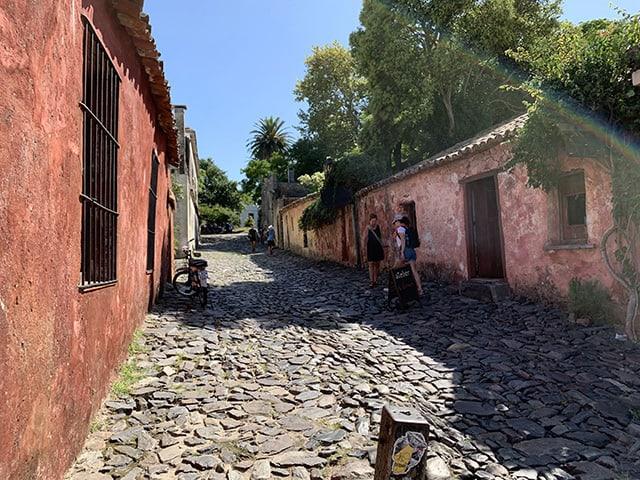 Original Portuguese streets in Colonia del Sacramento Uruguay