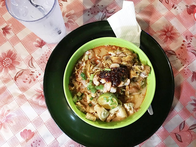 When in Kuching try the Sarawak Laksa