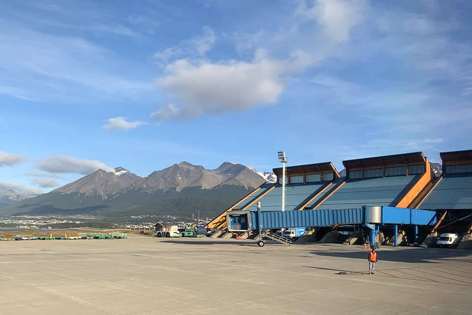 Ushuaia airport Argentina Andes