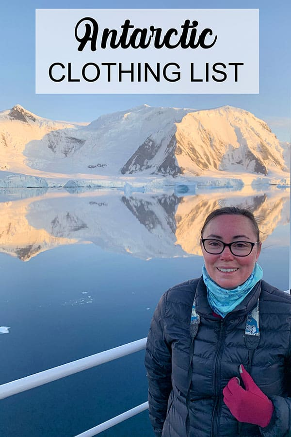 Antarctica clothing and packing list