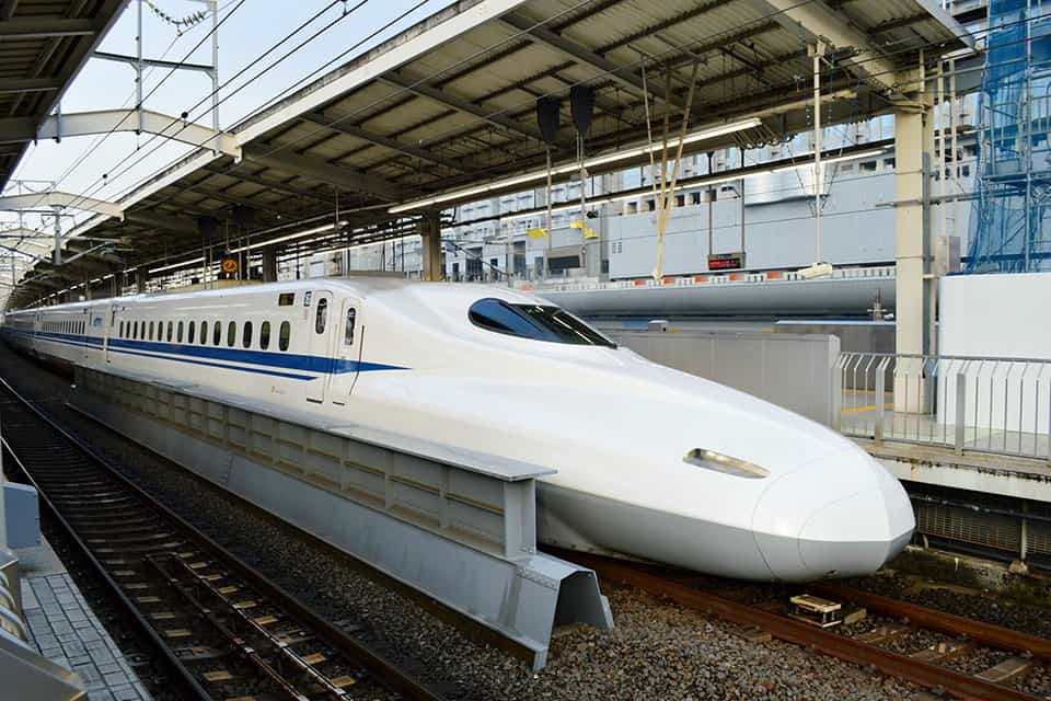 Catch the shinkansen in Japan